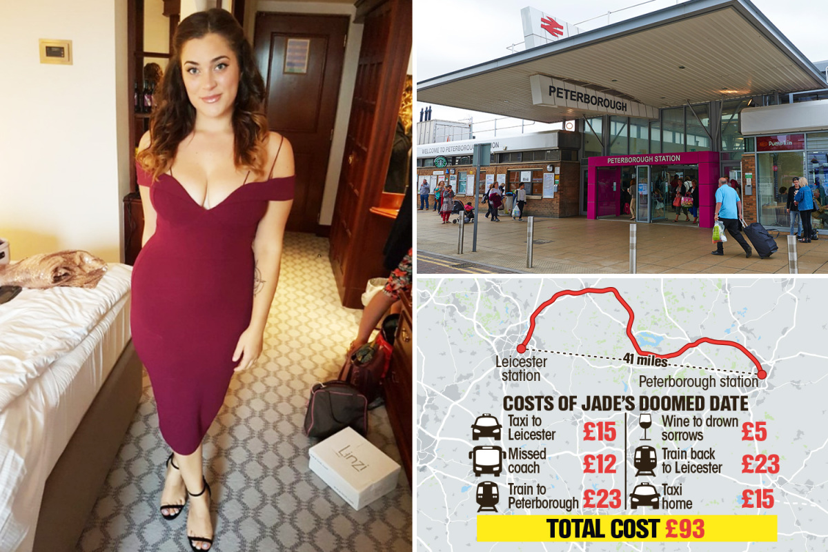 Woman travels 3 hours for Tinder date and spends £93 only to be called 'fat' and get dumped at train stat