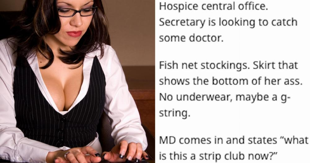 19 people describe the most inappropriate outfits they've seen coworkers wear to work.