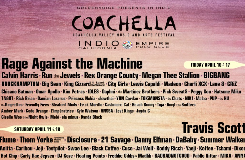 Coachella unveils star-studded lineup for 2020 festival: See the full list of performers! – AOL